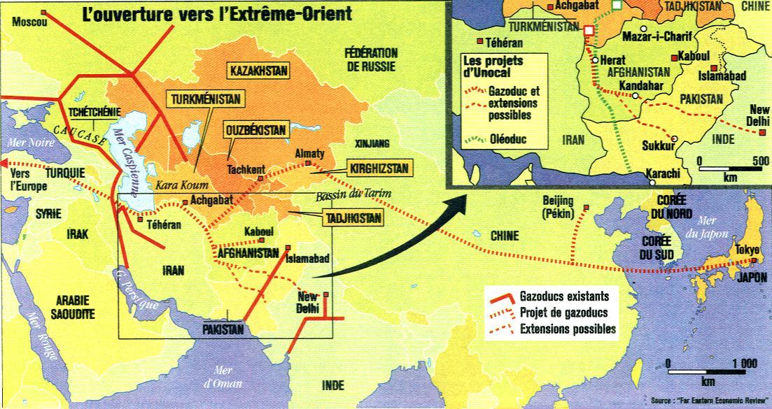 Carte Orient Extreme Vers L'extrême-orient
